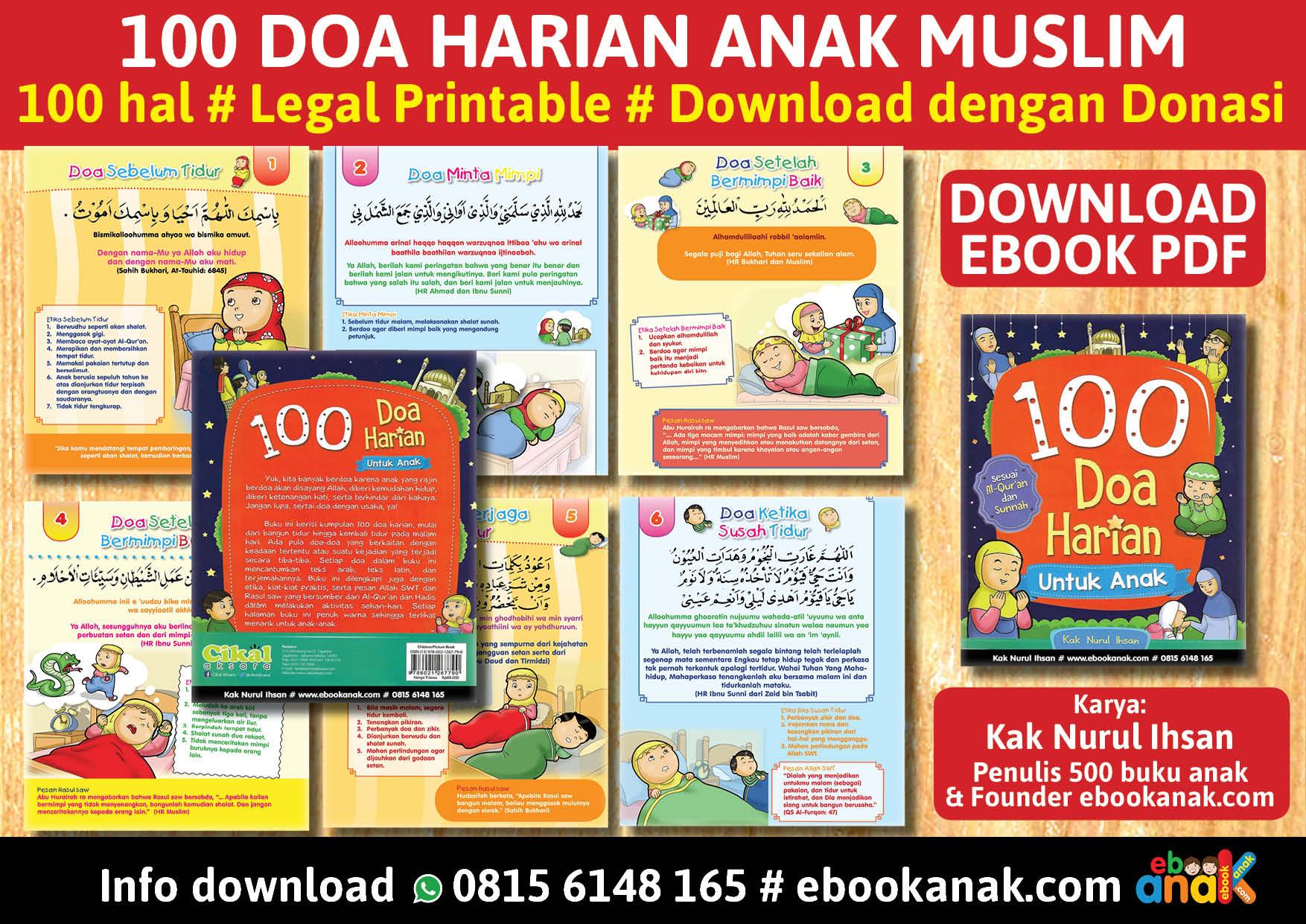 baner 100 doa harian anak muslim