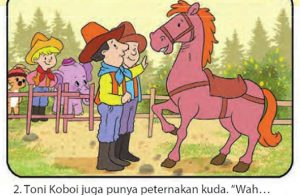 bona gajah kecil berbelalai panjang, menjadi koboi2