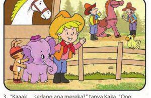 bona gajah kecil berbelalai panjang, menjadi koboi3