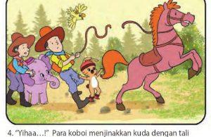 bona gajah kecil berbelalai panjang, menjadi koboi4