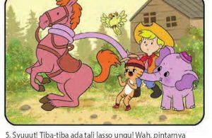 bona gajah kecil berbelalai panjang, menjadi koboi5