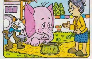 bona gajah kecil berbelalai panjang, potongan ubin3