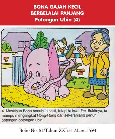 bona gajah kecil berbelalai panjang, potongan ubin4