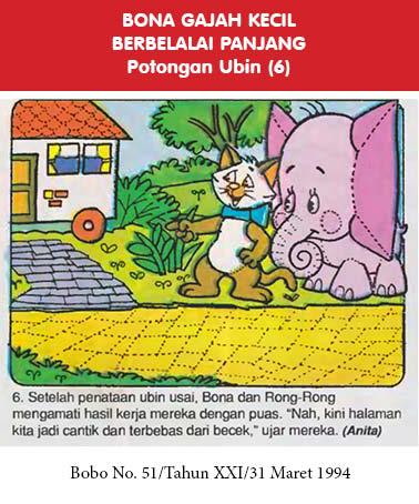 bona gajah kecil berbelalai panjang, potongan ubin6
