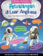 buku aktivitas petualangan di luar angkasa