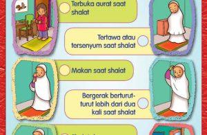 buku pintar anak shaleh, perbuatan yang membatalkan shalat (23)