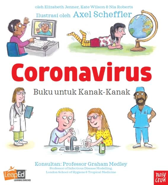 buku untuk kanak-kanak coronavirus
