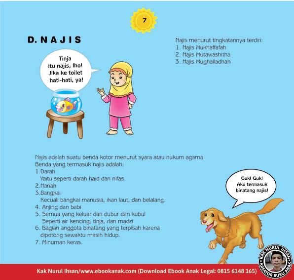 cara praktis belajar shalat for kids, Jenis-Jenis Najis (7)
