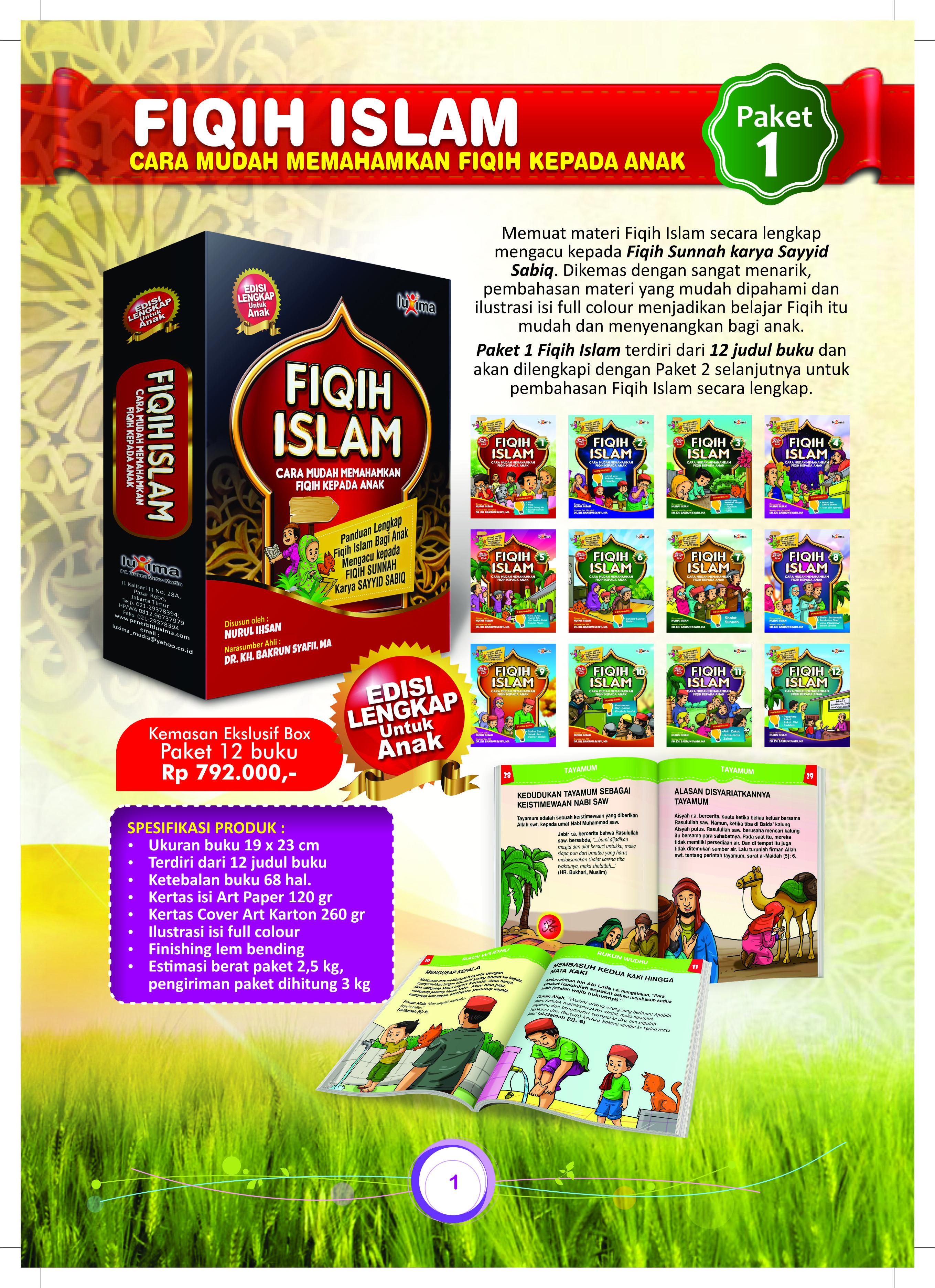 jual 12 judul paket fiqih islam bergambar