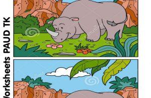 menemukan perbedaan 12 gambar badak bercula satu