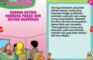 panduan pertama anak puasa ramadhan, Berdoa Ketika Berbuka Puasa dan Ketika Berpuasa (46)