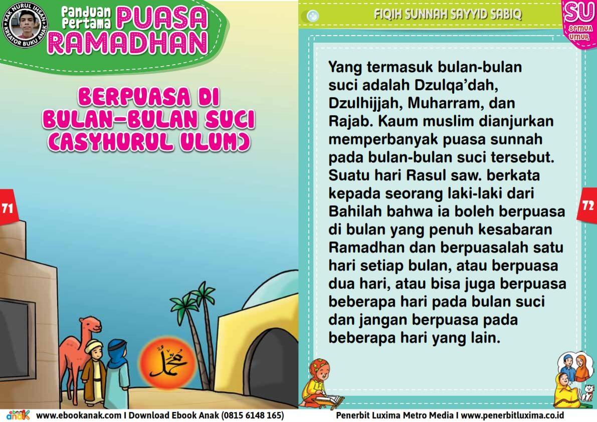 panduan pertama anak puasa ramadhan, Berpuasa di Bulan-Bulan Suci (Asyahrul Ulum) (36)