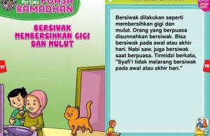 panduan pertama anak puasa ramadhan, Bersiwak Membersihkan Gigi dan Mulut (49)