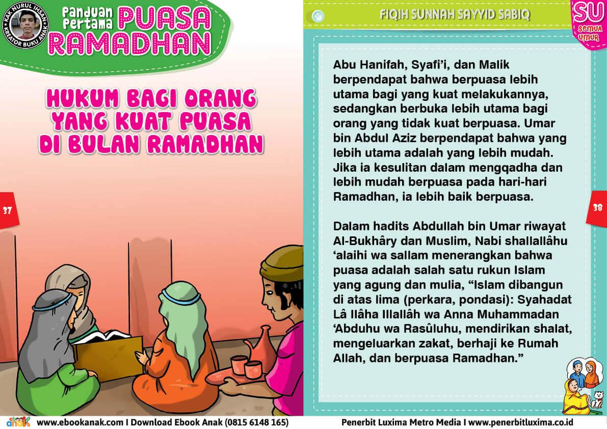 panduan pertama anak puasa ramadhan, Hukum Bagi Orang yang Kuat Puasa di Bulan Ramadhan 19