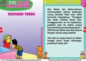 panduan pertama anak puasa ramadhan, Hukum Mengguyur Air Ke Kepala Saat Berpuasa (52)