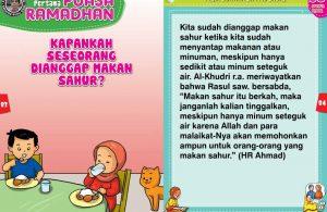 panduan pertama anak puasa ramadhan, Kapankah Seseorang Dianggap Makan Sahur (42)