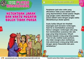 panduan pertama anak puasa ramadhan, Ketentuan Jarak dan Waktu Musafir Boleh Tidak Puasa 21