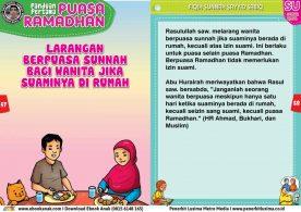 panduan pertama anak puasa ramadhan, Larangan Berpuasa Sunnah Bagi Wanita Jika Suaminya di Rumah (29)