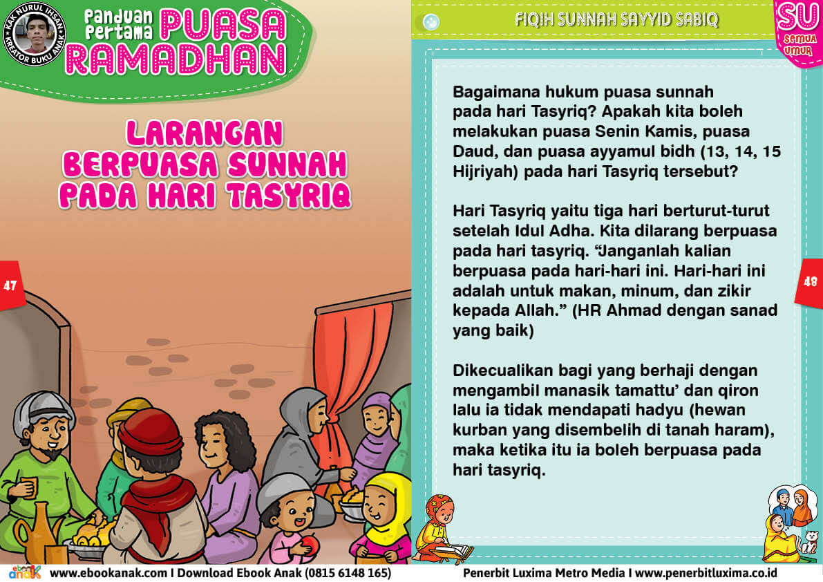 panduan pertama anak puasa ramadhan, Larangan Berpuasa Sunnah pada Hari Tasyriq 24