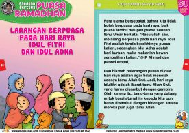 panduan pertama anak puasa ramadhan Larangan Berpuasa pada Hari Raya Idul Fitri dan Idul Adha 23