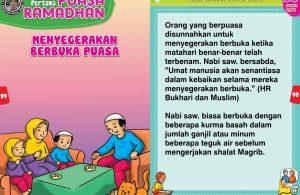 panduan pertama anak puasa ramadhan, Menyegerakan Berbuka Puasa (45)