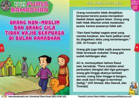 panduan pertama anak puasa ramadhan, Orang Non Muslim dan Orang Gila Tidak Wajib Berpuasa di Bulan Ramadhan 13