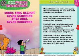 panduan pertama anak puasa ramadhan, Orang yang Melihat Bulan Sendirian Pada Awal Bulan Ramadhan 9