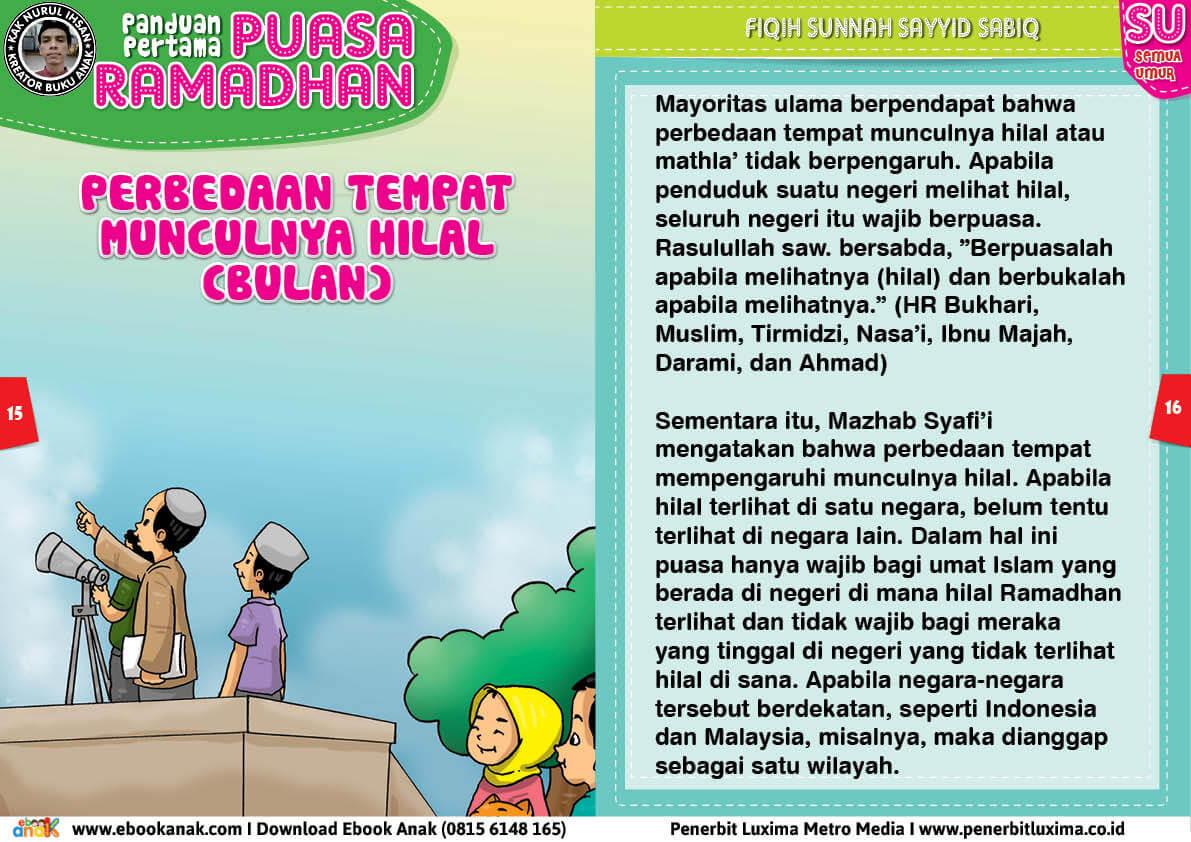 panduan pertama anak puasa ramadhan, Perbedaan Tempat Munculnya Bulan (Hilal) 8