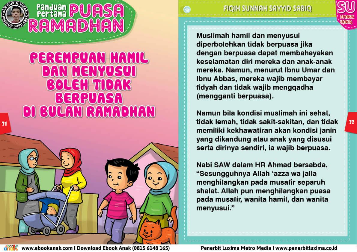 panduan pertama anak puasa ramadhan, Perempuan Hamil dan Menyusui Boleh Tidak Berpuasa di Bulan Ramadhan 16