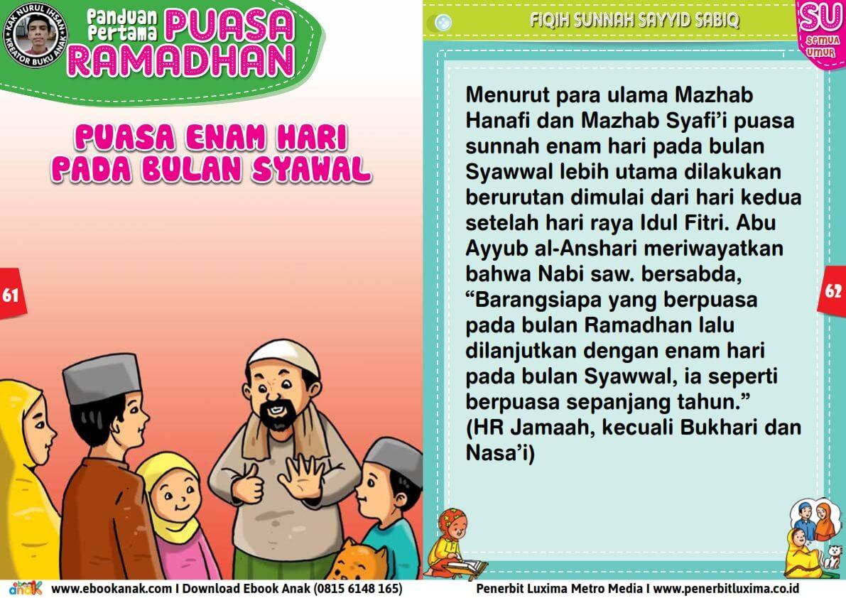panduan pertama anak puasa ramadhan, Puasa Enam Hari Pada Bulan Syawal (31)