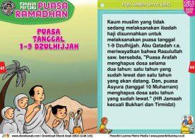 panduan pertama anak puasa ramadhan, Puasa Tanggal 1-9 Dzulhijjah (32)