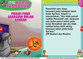 panduan pertama anak puasa ramadhan, Puasa pada Sebagian Bulan Syaban (35)