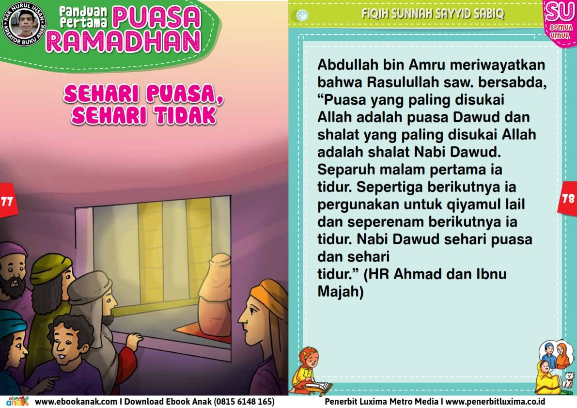 panduan pertama anak puasa ramadhan, Sehari Puasa, Sehari Tidak (39)