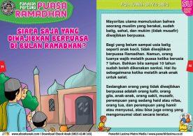 panduan pertama anak puasa ramadhan, Siapa Saja yang Diwajibkan Berpuasa di Bulan Ramadhan 12