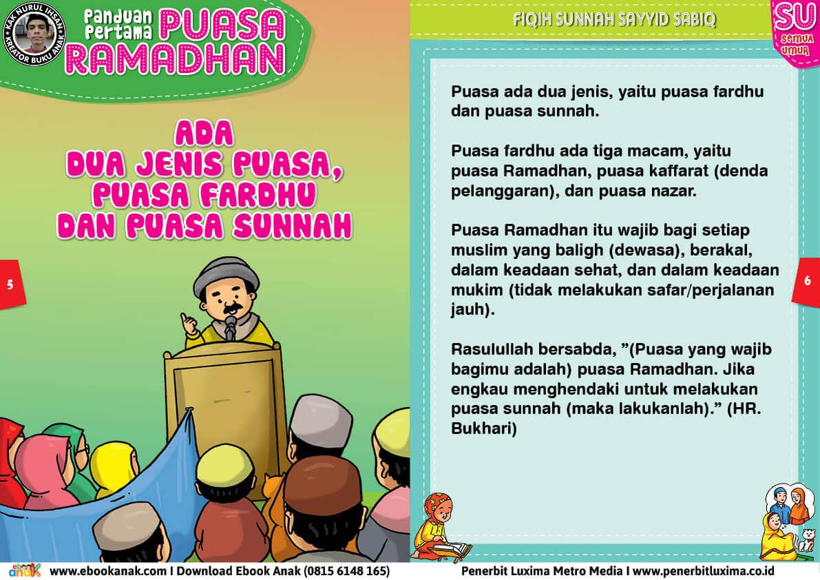 panduan pertama anak puasa ramadhan, ada dua jenis puasa, puasa fardhu dan puasa sunnah 3