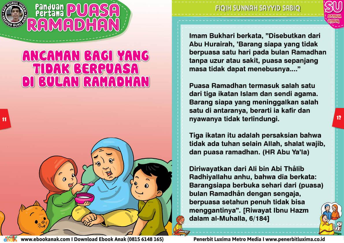 panduan pertama anak puasa ramadhan, ancaman bagi yang tidak berpuasa di bulan ramadhan 6