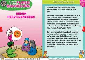panduan pertama anak puasa ramadhan, hukum puasa ramadhan 4
