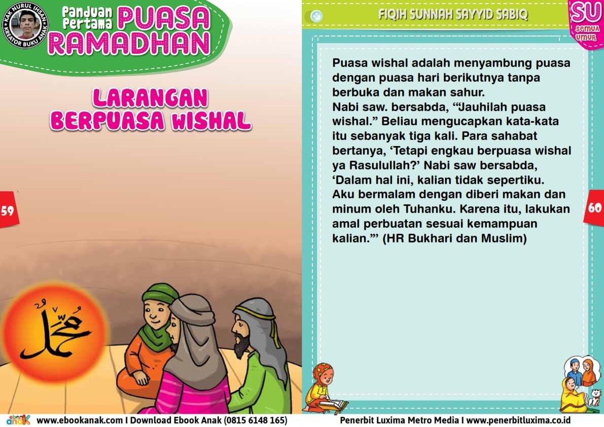 panduan pertama anak puasa ramadhan, larangan berpuasa wishal (30)