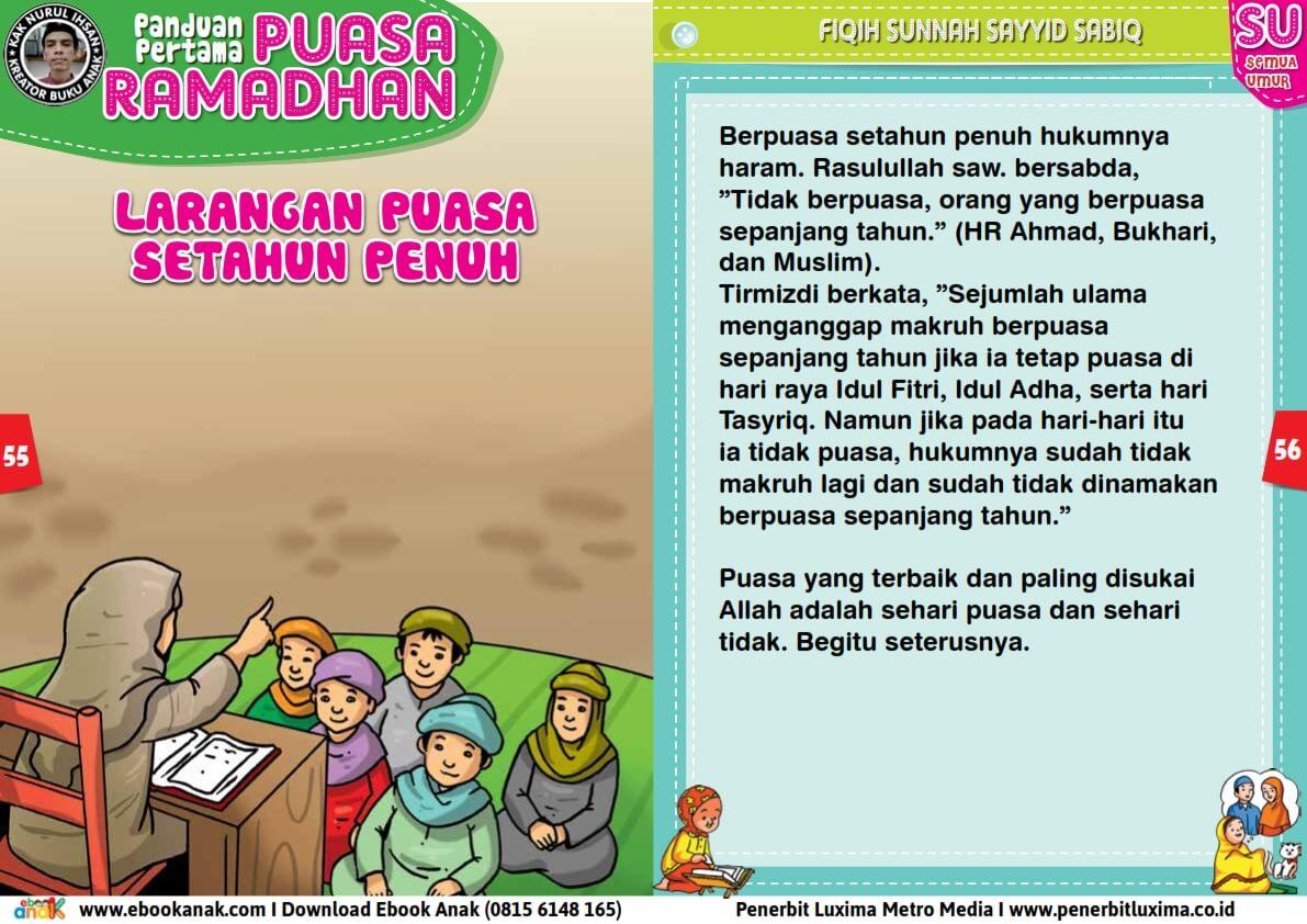 panduan pertama anak puasa ramadhan, larangan puasa setahun penuh (28)