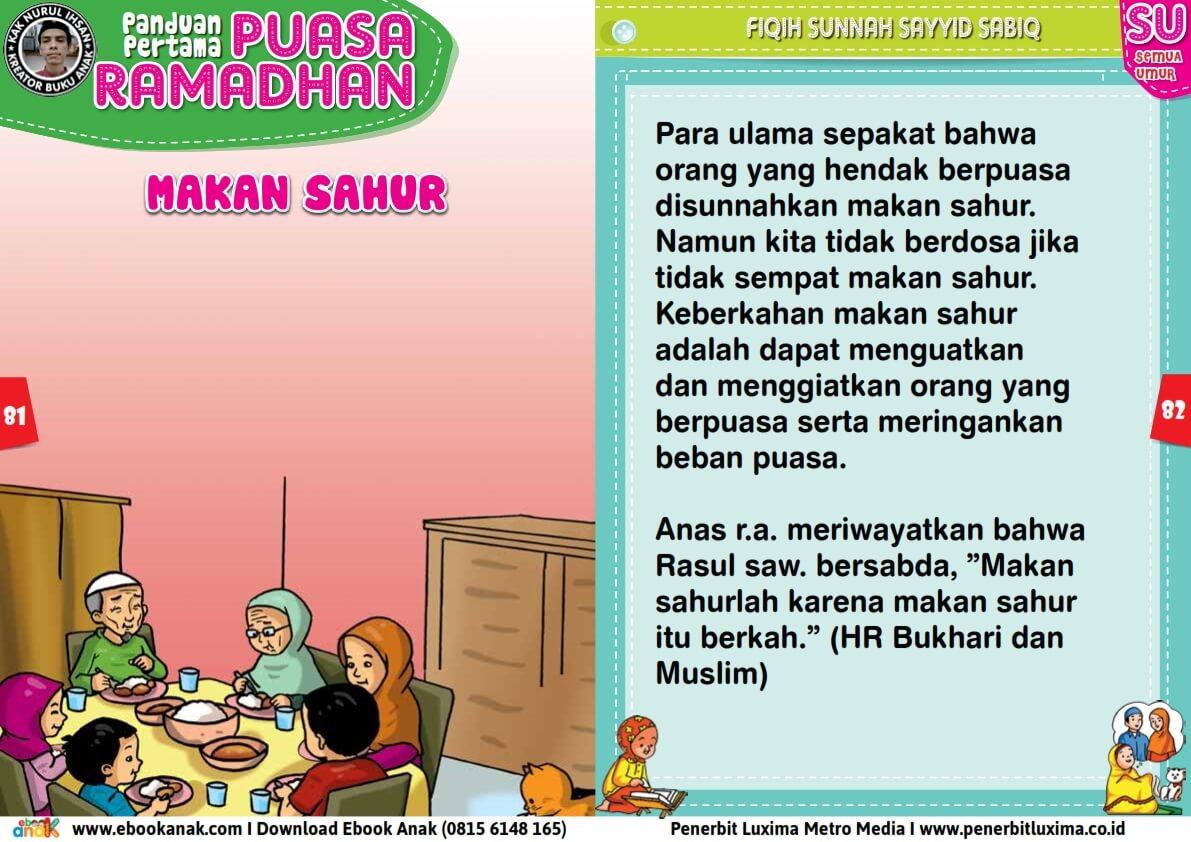 panduan pertama anak puasa ramadhan, makan sahur (41)