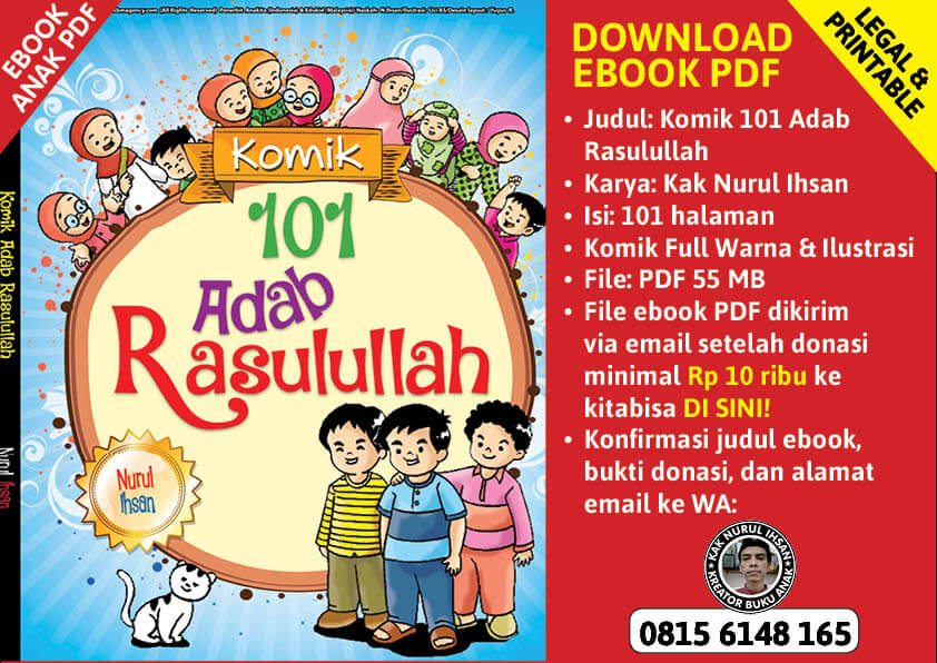 pop up cover ebook pdf komik 101 adab rasulullah