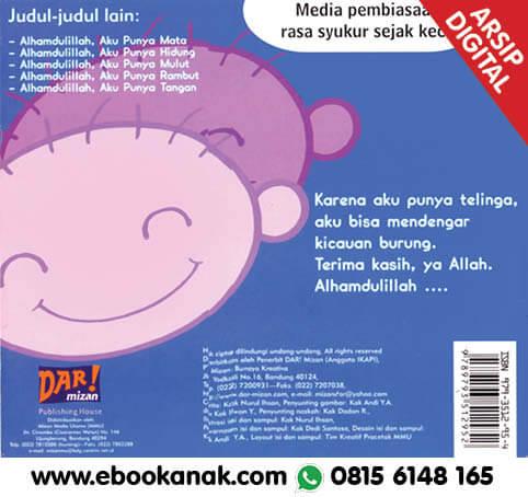 Download Ebook: Thank You Allah, Alhamdulillah, Aku Punya Telinga